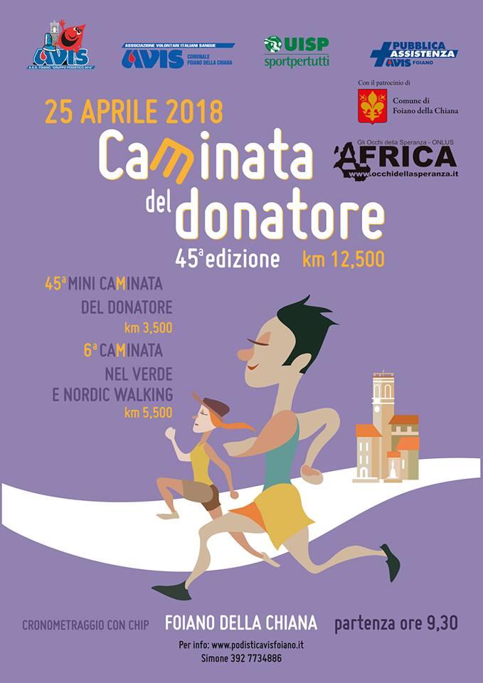 45^ Caminata del Donatore @ Piazza Matteotti - Foiano della Chiana | Bettolle | Toscana | Italia