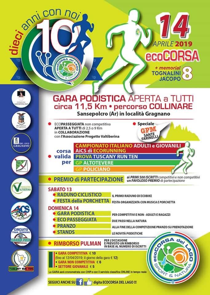 ecoCORSA del LAGO 2019 @ GRAGNANO SAN SEPOLCRO | Gragnano | Toscana | Italia
