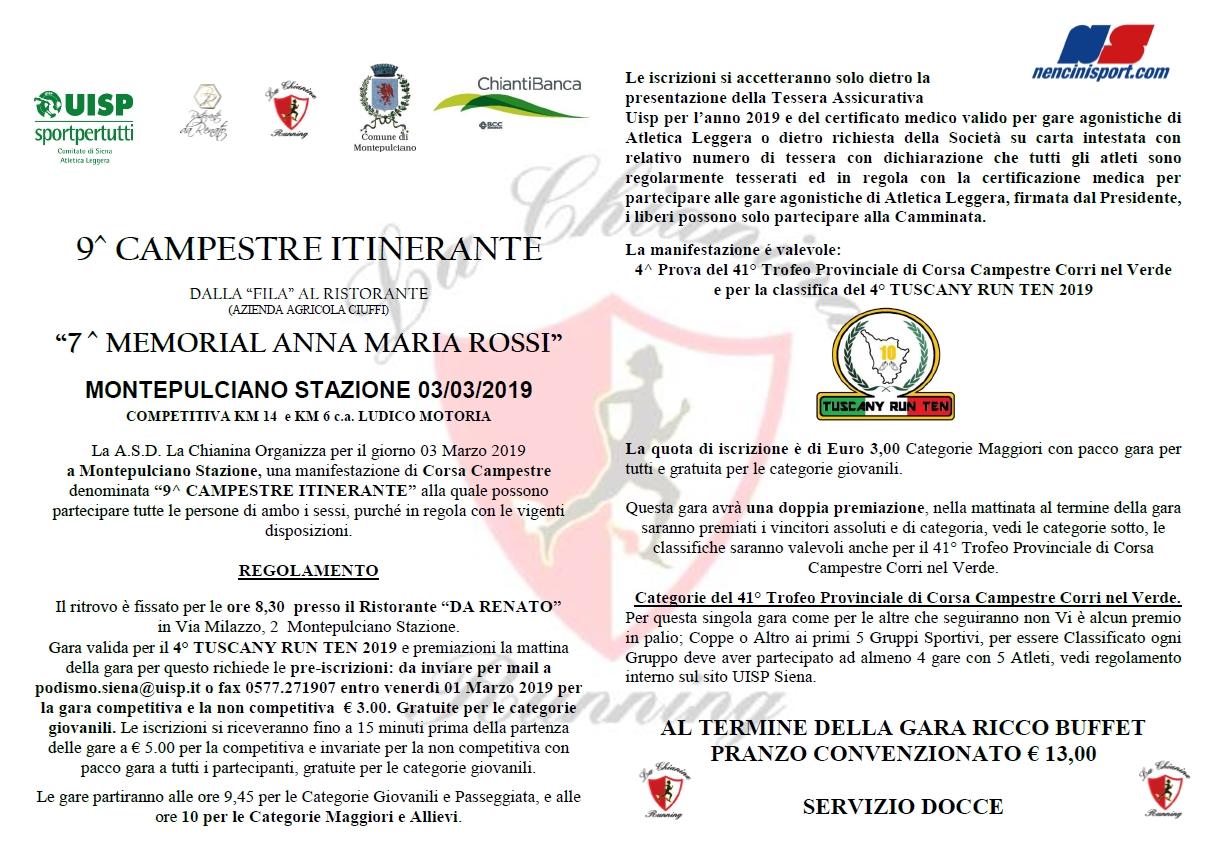 9^ Campestre Itinerante dalla Fila Al Ristorante @ Da Renato Montepulciano Stazione | Montepulciano Stazione | Toscana | Italia