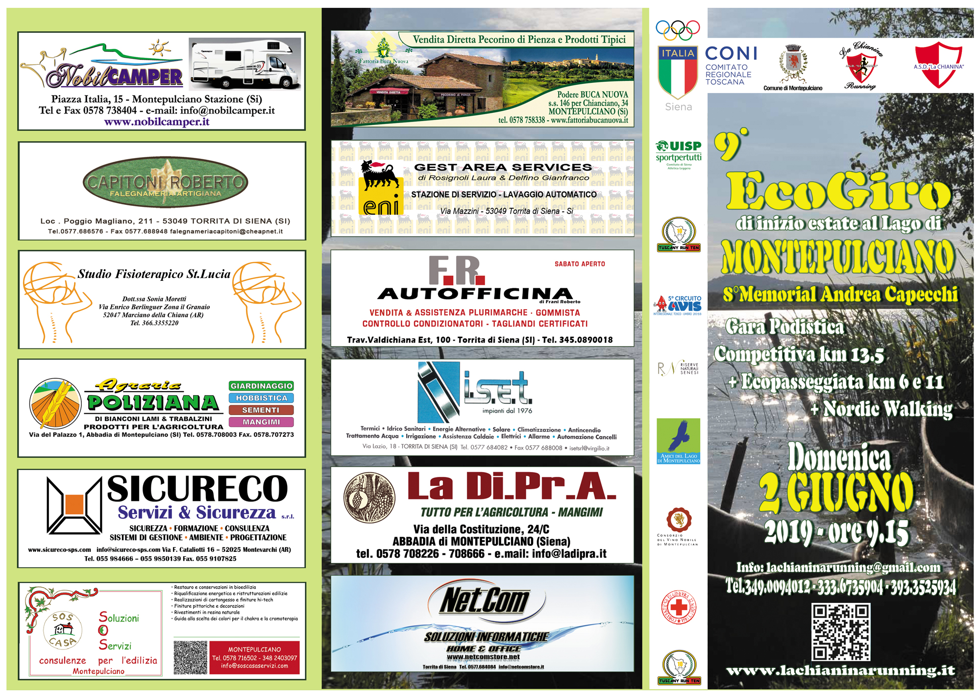 9° ECOGIRO DEL LAGO DI MONTEPULCIANO @ Lago di Montepulciano, 53045 Montepulciano SI, Italia | Toscana | Italia