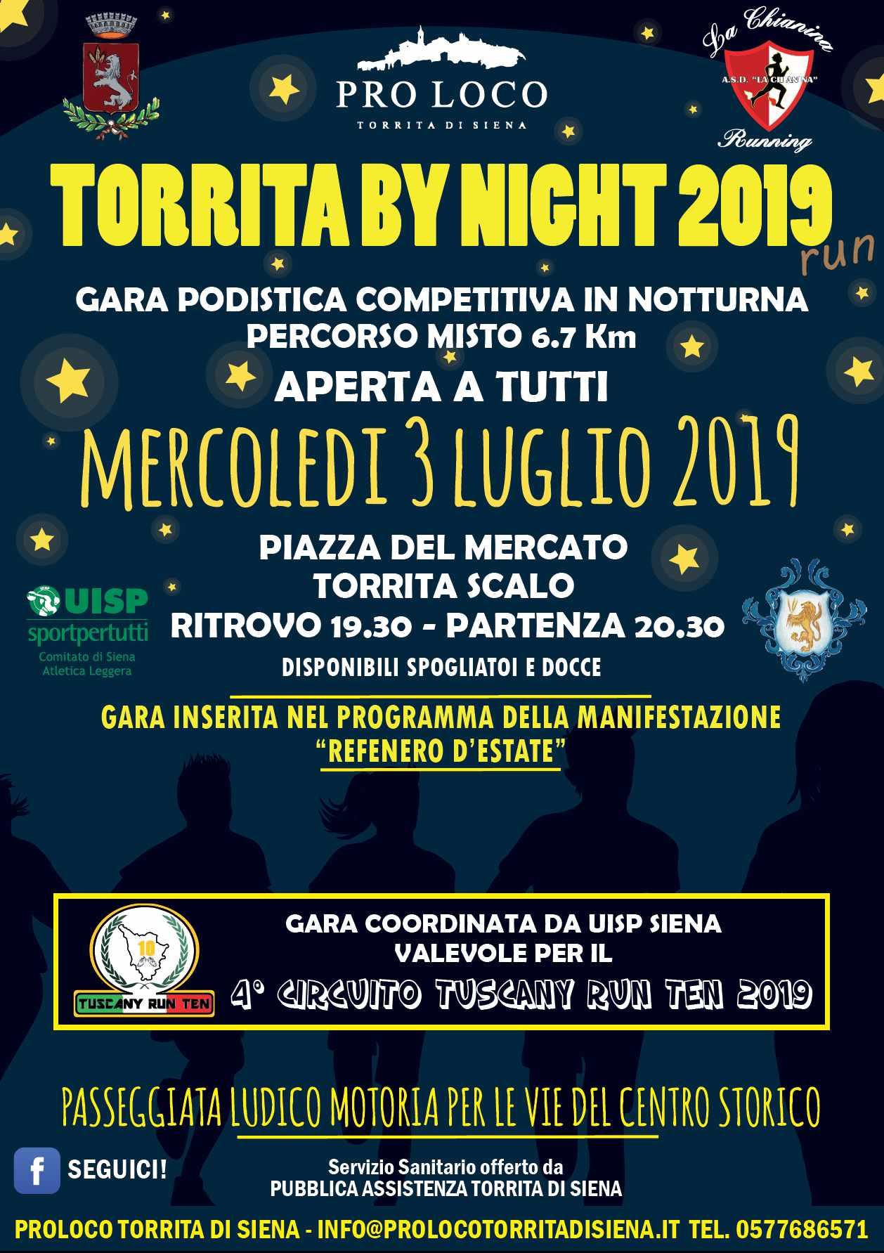 TORRITA BY NIGHT 2019 @ TORRITA DI SIENA ZONA STADIO | Toscana | Italia